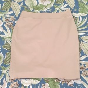 Ann Taylor Khaki Pencil Skirt Fully Lined Size 6P